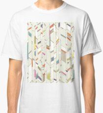 Hand Drawn Chevrons Diagonal Brights Classic T-Shirt