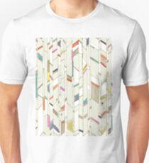 Hand Drawn Chevrons Diagonal Brights T-Shirt
