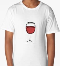 glass of red wine doodle icon Long T-Shirt