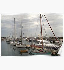 Boat harbour - Guernsey Poster