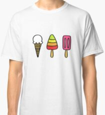 ice cream doodle icons Classic T-Shirt