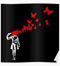 Banksy Girl Suicide Poster