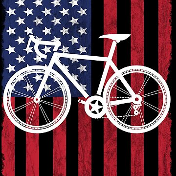 Cycling USA Flag Design by kudostees
