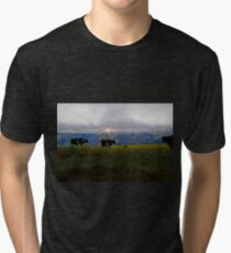 Milking In The Andes Tri-blend T-Shirt