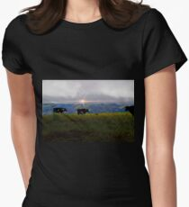 Milking In The Andes Womens Fitted T-Shirt