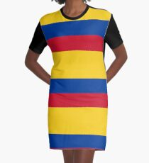 Columbia, Colombian, Colombian Flag, Flag of Colombia. Latin America, Pure & Simple. Graphic T-Shirt Dress