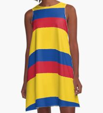 Columbia, Colombian, Colombian Flag, Flag of Colombia. Latin America, Pure & Simple. A-Line Dress