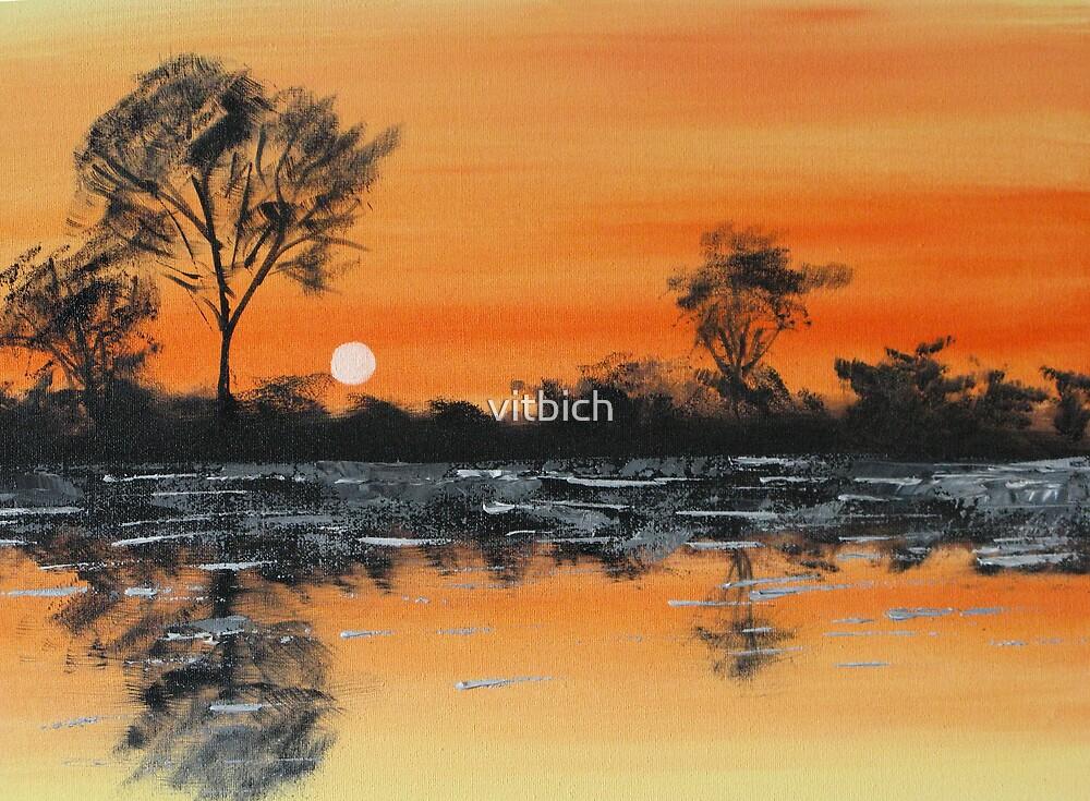 Orange sunset by vitbich
