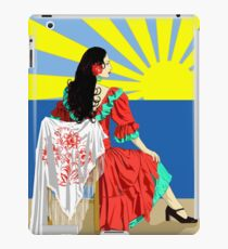 spanish flamenco dancer at sunset iPad Case/Skin