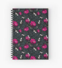 Wallpaper pattern design Floral Mecha 6 Edouard Artus Spiral Notebook