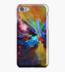 Flow,  from original Mixed Media Abstract Painting by Madeleine Kelly iPhone Case/Skin