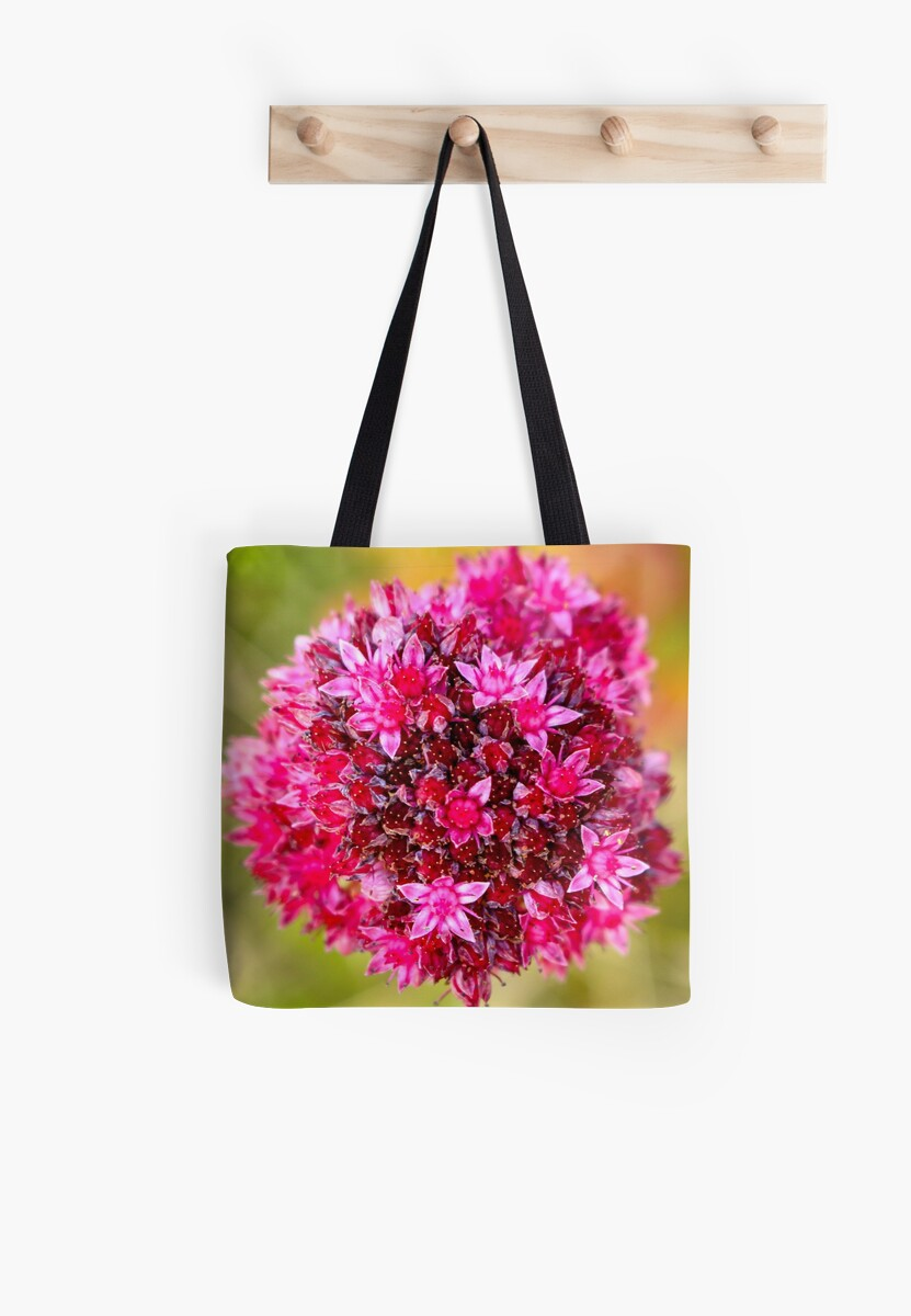 Pink Sparkly Flowers Tote Bags By Sarah Mcalpine Redbubble