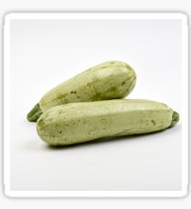 Fresh and organic courgette on white background Sticker