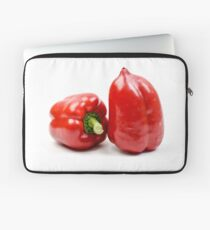 Fresh and organic Red Bell Pepper on white background Laptop Sleeve