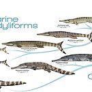 Marine Crocodyliforms of the Oxford Clay by SerpenIllus
