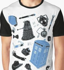 Doctor Who Collage Graphic T-Shirt