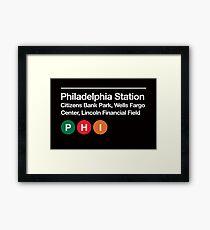 Philadelphia Pro Sports Venue Subway Sign Framed Print