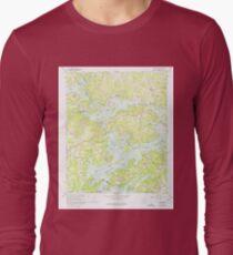 USGS TOPO Map Georgia GA Chestatee 245307 1964 24000 Long Sleeve T-Shirt