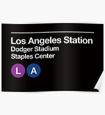 Los Angeles Pro Sports Venues Subway Sign Poster