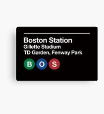 Boston Pro Sports Venue Subway Sign Canvas Print
