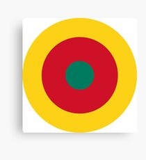 Roundel of Cameroon Air Force  Canvas Print