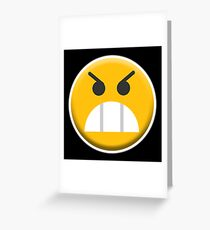 ANGRY, MR ANGRY, Upset, Emoji, Emoticon, Fierce Greeting Card