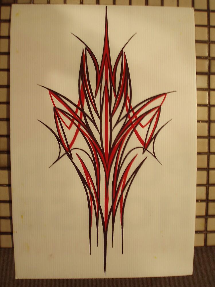 pinstripe art by Tim O'Connor