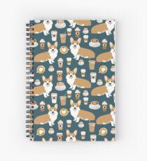 Corgi welsh corgi coffee cafe dog dogs dog breed dog pattern pet friendly Spiral Notebook