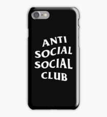 Anti Social Social Club Merchandise iPhone Case/Skin