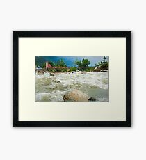 Gushing Waters Framed Print