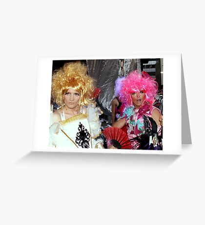 You know honey...your outfit might sparkle but I'm sure I saw lice in that excuse for a hair do... Greeting Card