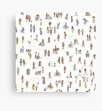 Tiny Pedestrians Canvas Print