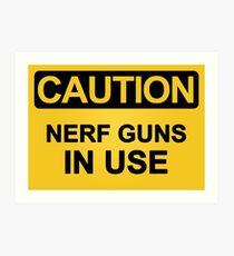 Nerf Guns In Use Art Print