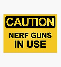 Nerf Guns In Use Photographic Print