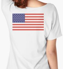 American Flag, Stars & Stripes, Pure & Simple, America, USA Women's Relaxed Fit T-Shirt