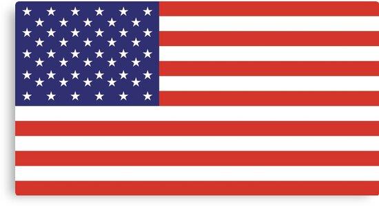 American Flag, Stars & Stripes, Pure & Simple, America, USA by TOM HILL - Designer