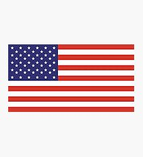 American Flag, Stars & Stripes, Pure & Simple, America, USA Photographic Print