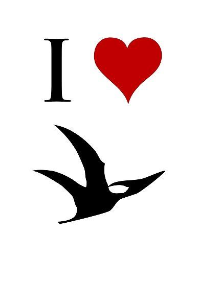 I Love Dinosaurs - Pterodactyl by jezkemp