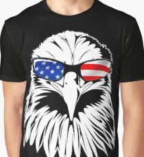 Patriotic Eagle America 4th of July American Flag T-shirt Graphic T-Shirt