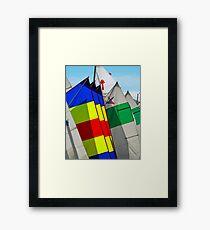 Junior Masts Line Up Framed Print
