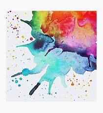 Rainbow Chakra Watercolor Splash Photographic Print