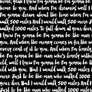 «I'm Gonna Be 500 Miles letra en español» de La Chic
