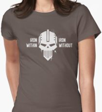 Iron Within Iron Without - Iron Warriors Warhammer 40k Womens Fitted T-Shirt