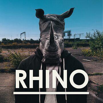 Rhino Album Art Cool Tees by EMAGICSTUDIOS