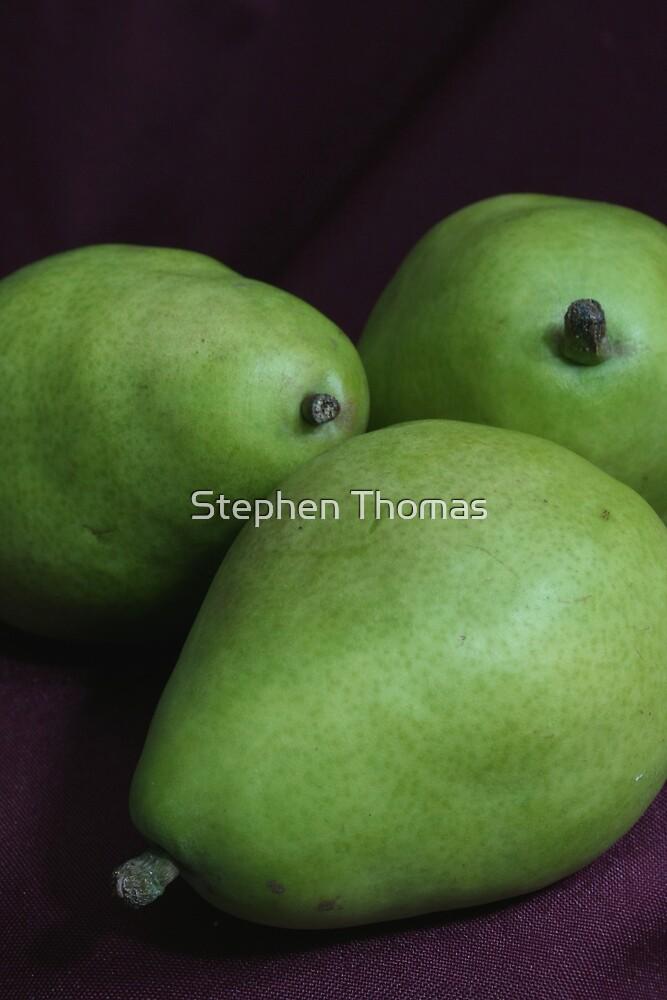 Three Green Pears by Stephen Thomas
