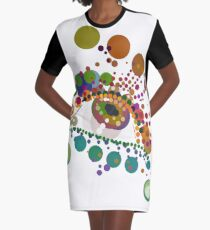 Rainbow Tears (Larmes) Graphic T-Shirt Dress