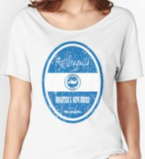 EPL - Brighton & Hove Albion (Distressed) Women's Relaxed Fit T-Shirt