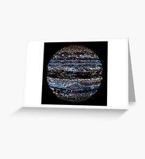 Neon Jupiter Greeting Card