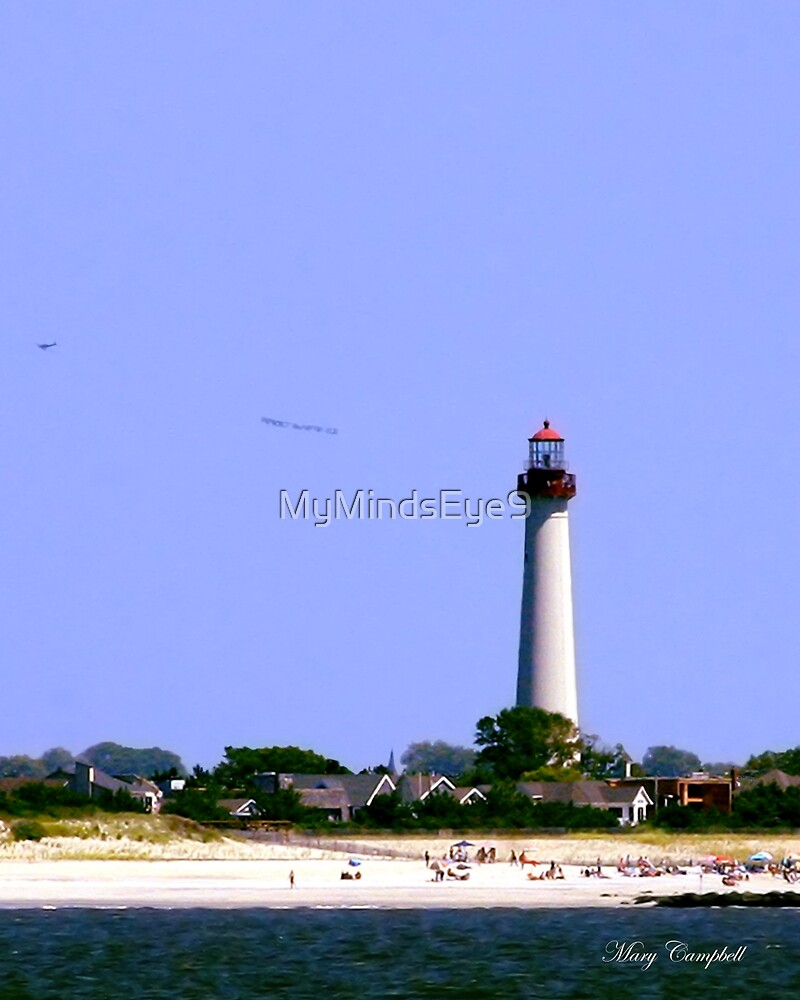 Cape May Lighthouse from the Water by Mary Campbell