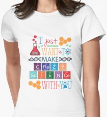 Make Crazy Science - Orphan Black Women's Fitted T-Shirt